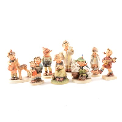 Lot 49-Collection of Hummel pottery figures