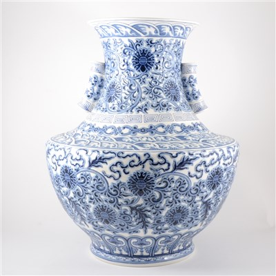 Lot 35-A large limited edition Blue Empire vase, by Lladró