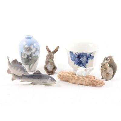 Lot 4-Copenhagen animal models, vases and bowls