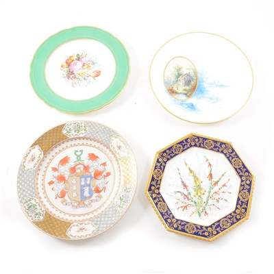 Lot 39-A small collection of decorative plates.
