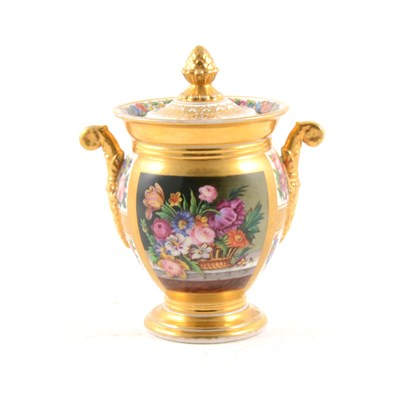 Lot 49-Coalport style urn shaped vase and cover
