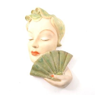 Lot 31-An Art Deco figural wall mask by Leonardi