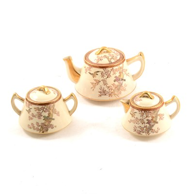 Lot 45-Japanese Satsuma teaset, six place settings