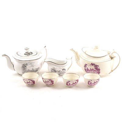 Lot 36-Collection of early 19th Century Staffordshire printed teaware