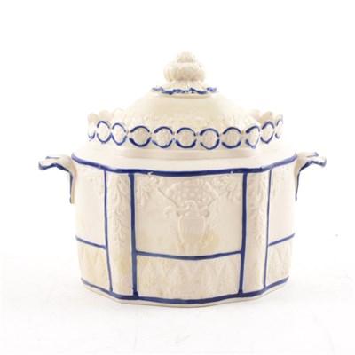 Lot 15-Castleford jasper type sugar box