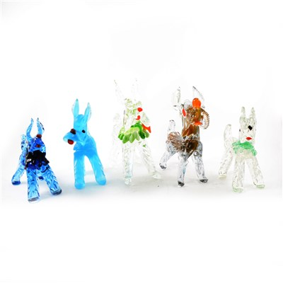 Lot 34-Collection of Venetian glass dog models
