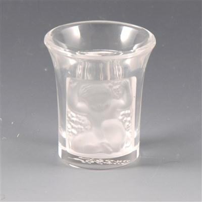 Lot 15A-Lalique Les Enfants shot glass