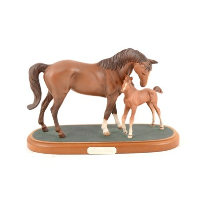 """Lot 12-Royal Doulton horse figure group """"First Born"""""""