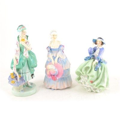 Lot 17-Three Royal Doulton figurines