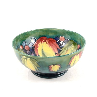Lot 35-Moorcroft Pottery bowl, Leaf and Berry design