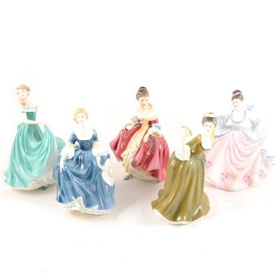 Lot 8-Ten Royal Doulton figurines