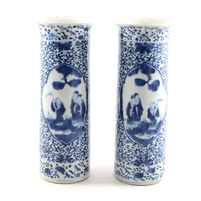 Lot 44-Two Chinese blue and white vases.