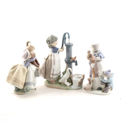Lot 2-Three Lladro figural groups
