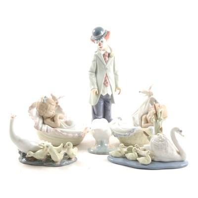 Lot 50-Six assorted Lladro figures