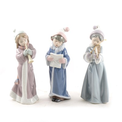 Lot 27-Three Lladro musician figures