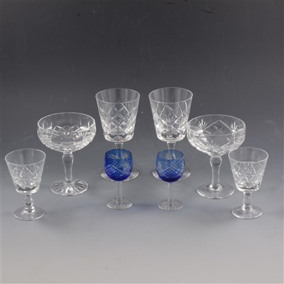 Lot 48-Quantity of assorted crystal glassware, including Royal Brierley
