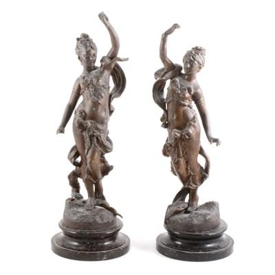 Lot 88-A pair of Victorian allegorical speller figures