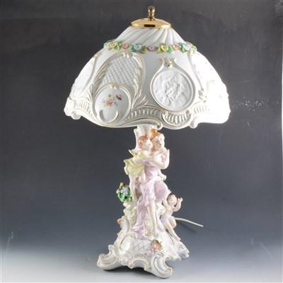 Lot 58-A Sitzendorf table lamp