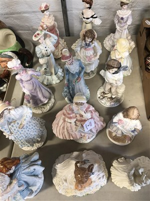 Lot 38-Four Royal Worcester figurines, from the Victoria and Albert Museum Collection, and various others