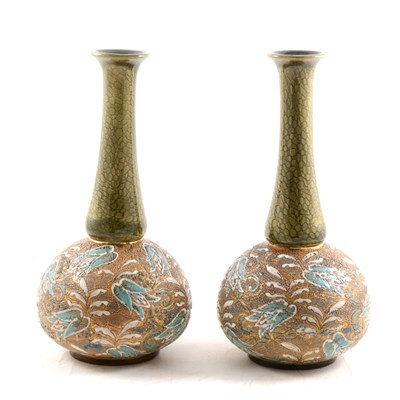 Lot 21-Pair of Doulton Slaters ware vases