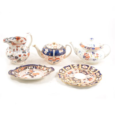 Lot 10-Davenport Imari pattern plate and other Ironstone ware