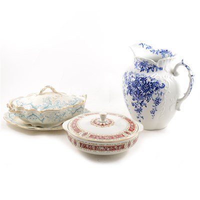 Lot 46-Three boxes of assorted tableware and ceramics.