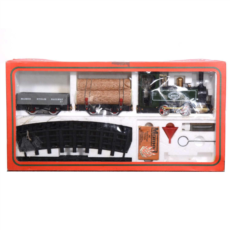 Lot 10-Mamod live steam locomotive RS1 set, boxed