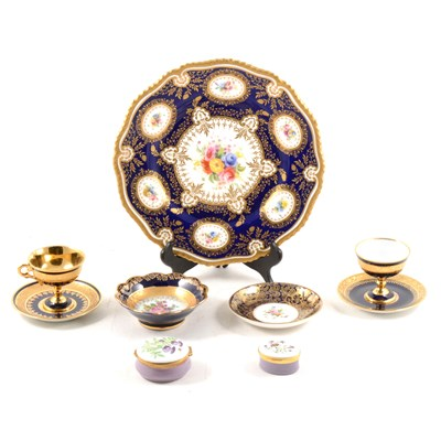 Lot 23-Royal Worcester cabinet plate, and other decorative porcelain and china.