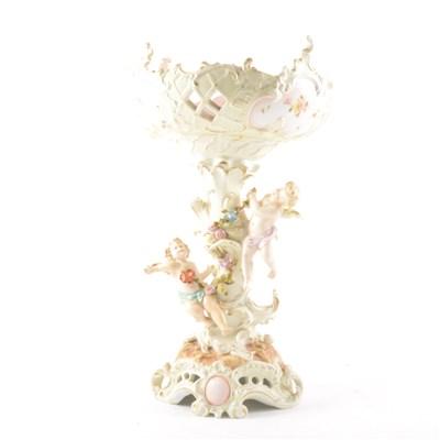 Lot 8-A Dresden porcelain table-centre
