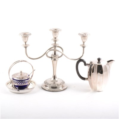 Lot 78-An electroplated cocktail shaker and other plated, metal and wooden items