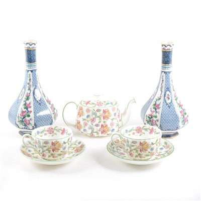 Lot 67-Minton bone china teaset, Haddon Hall pattern