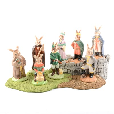 Lot 23-A collection of eight Royal Doulton Bunnykins models, Robin Hood series