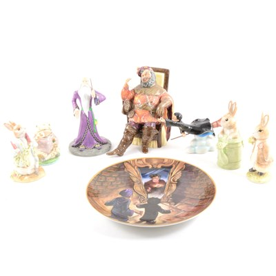 Lot 34-A quantity of collectable ceramic figures, including Beatrix Potter and Harry Potter