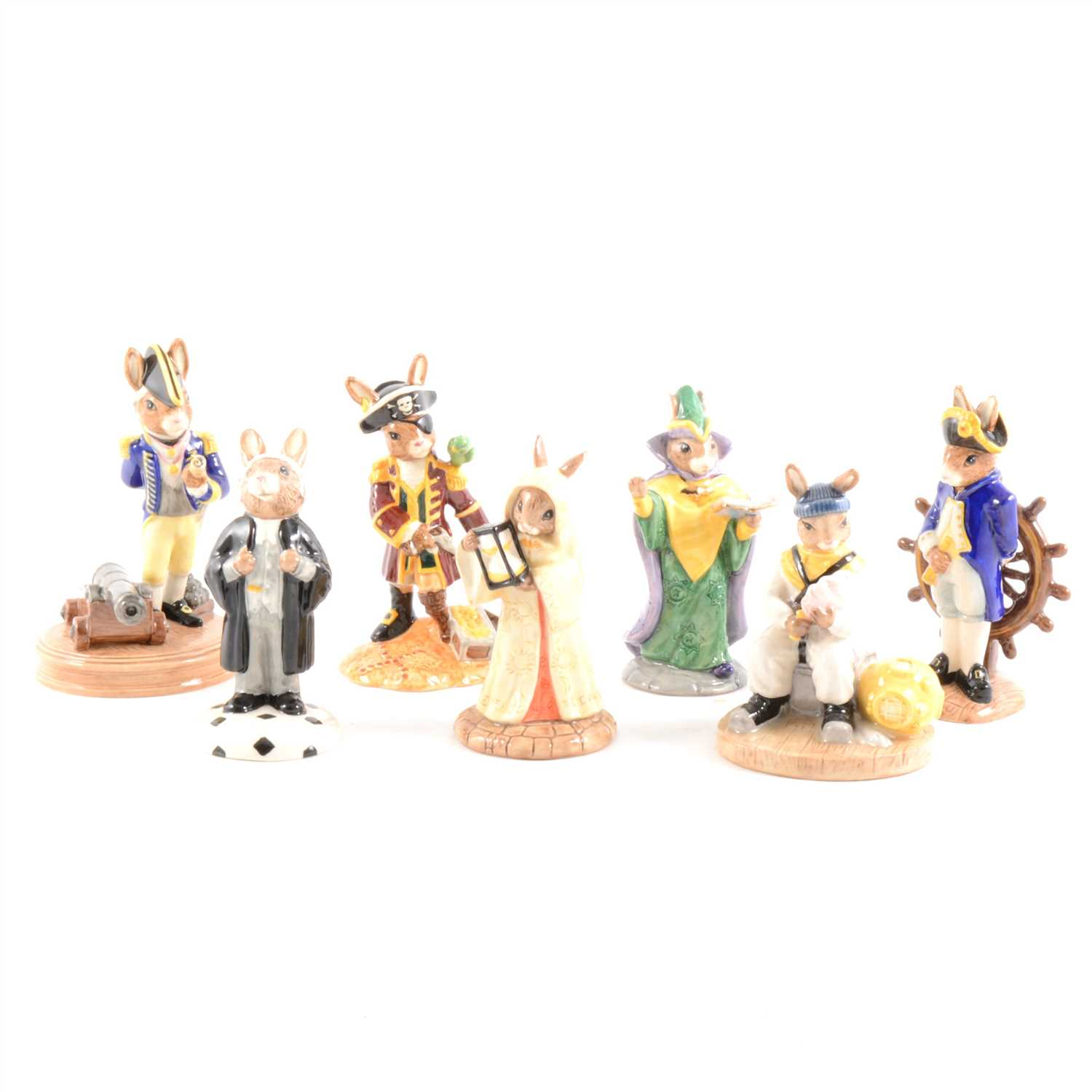 Lot 31-A collection of 18 Royal Doulton Bunnykins figures