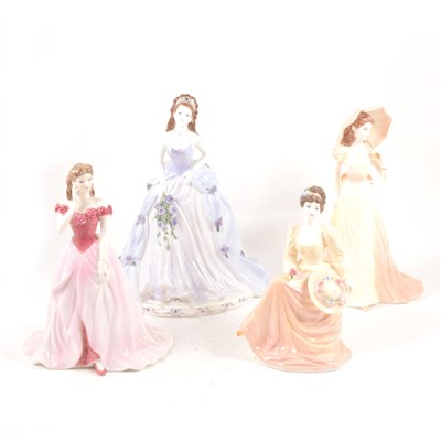Lot 26-A collection of Coalport bone china figures, ...