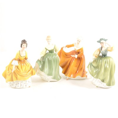 Lot 21-A Royal Doulton figure, Kirsty HNT381, height...