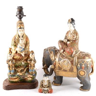 Lot 20-Three Japanese satsuma ware figures