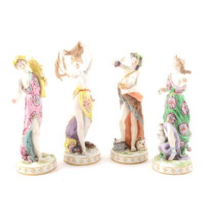 Lot 4-Continental porcelain figures, Diana, Ceres, Venus, and Bacchus, and four others