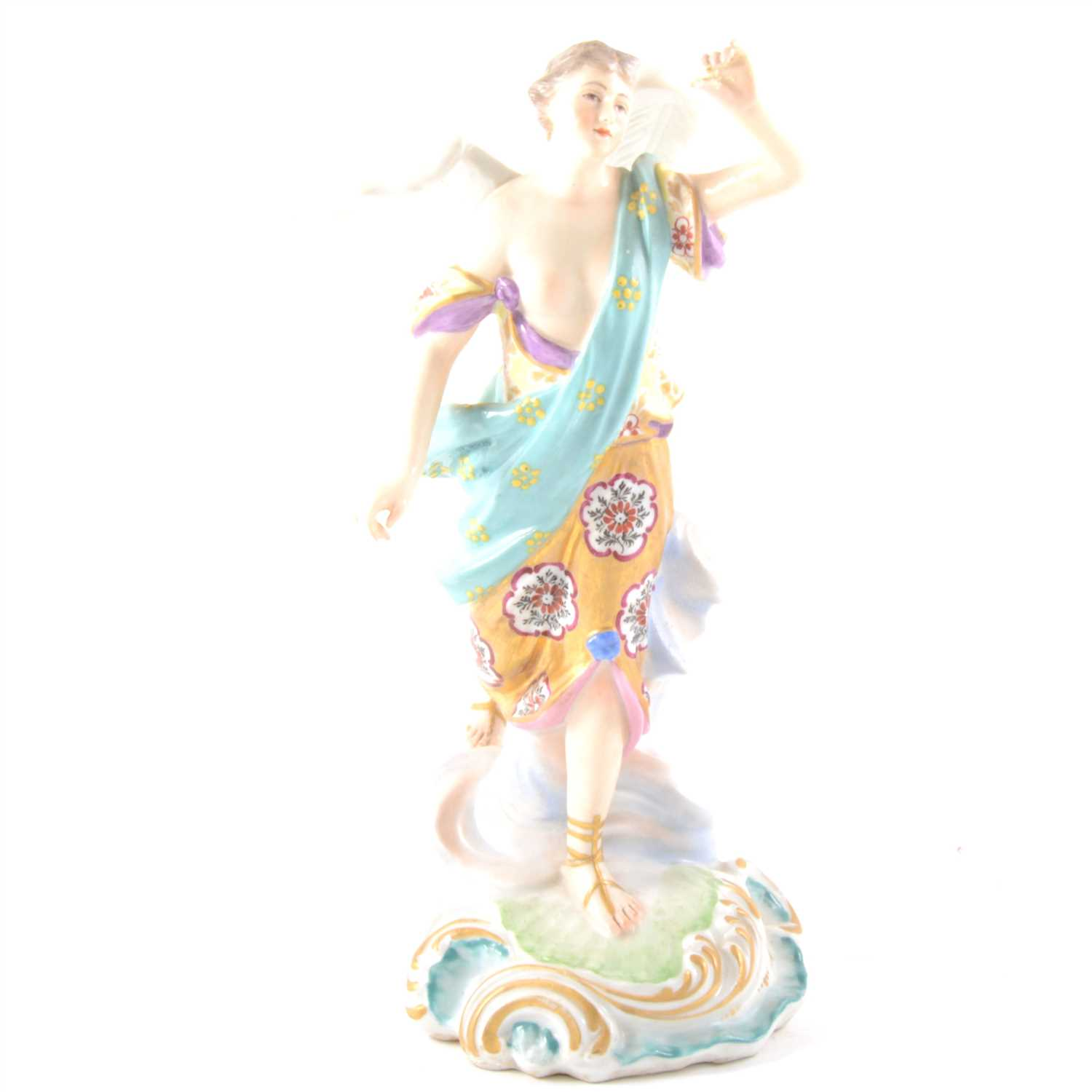 Lot 1-An English porcelain figure, Victory, probably Derby