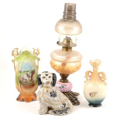 Lot 38-A reproduction oil lamp, ...