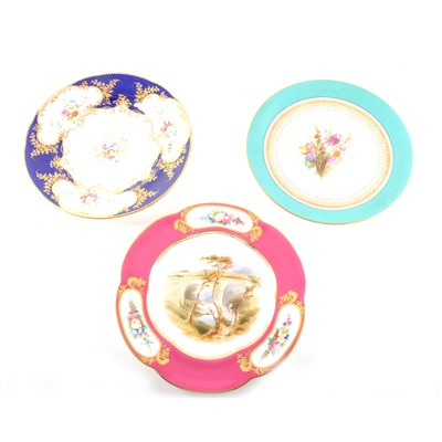 Lot 33-A Victorian bone china cabinet plate, ...