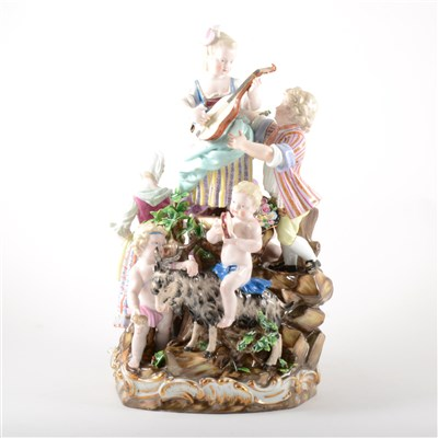 Lot 45-A Meissen style porcelain group