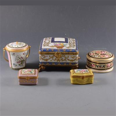 Lot 49-A Limoges porcelain box, ...