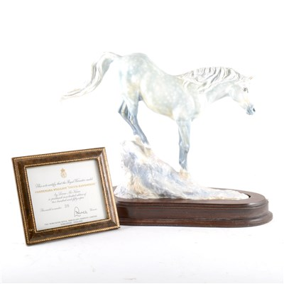 "Lot 39-A Royal Worcester model of Connemara Stallion ""Cocum Hawkstone"""