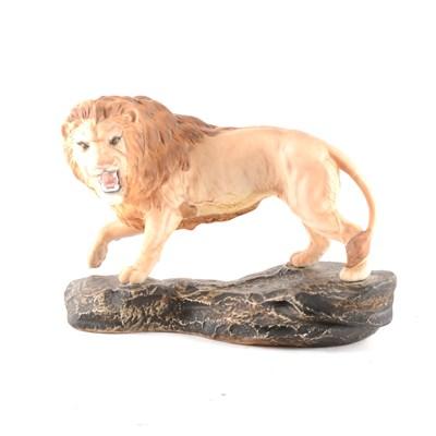 Lot 7-Beswick, Lion on a Rock, model 2554A