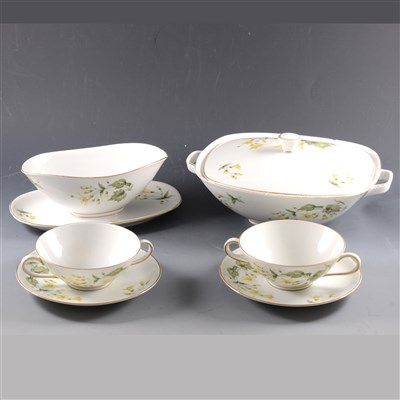 Lot 45-A Krautheim Franconia porcelain dinner service, floral decoration, ...