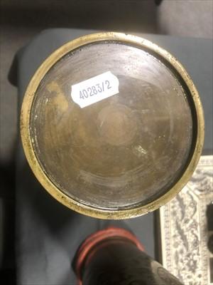 Lot 529-Pair of Japanese bronze vases, Meiji