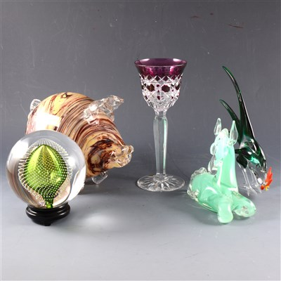 Lot 37-A collection of art glass