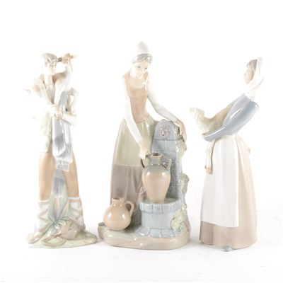 Lot 40-A Lladro figure of a young shepherdess, ...
