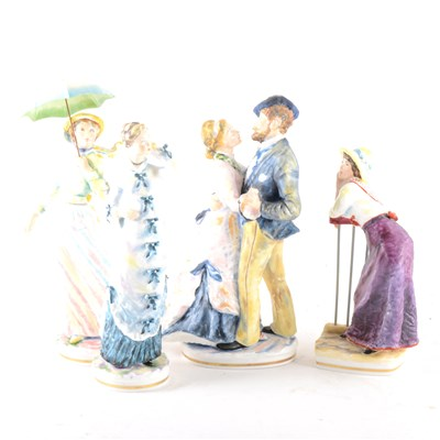 Lot 27-A Royal Worcester group, Marguerite and Don Pedro, ...